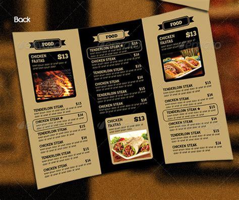 Tri Fold Restaurant Menu Templates Free by 14 Great Tri Fold Restaurant Menu Psd Templates Design