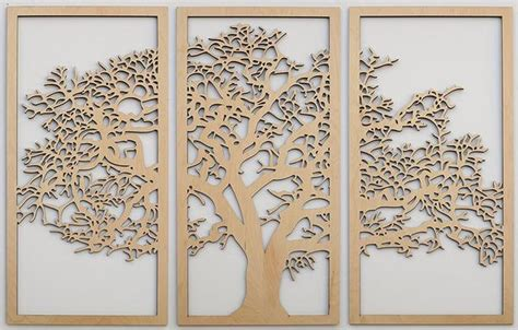 tree  life   panel wall art design  skyline