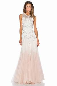 needle thread embellished tulle gown in white lyst With needle and thread robe