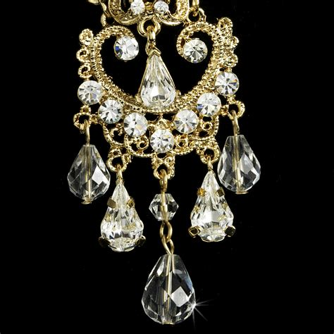 vintage wedding chandelier earrings