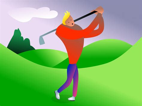 Clip Golf Golfer Clipart Free Stock Photo Domain Pictures