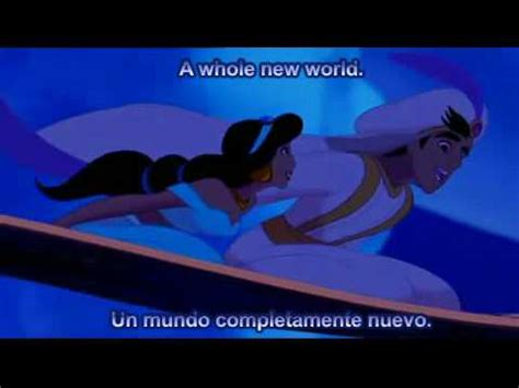Aladdin A Whole New World Español HQ Subtitled Songs