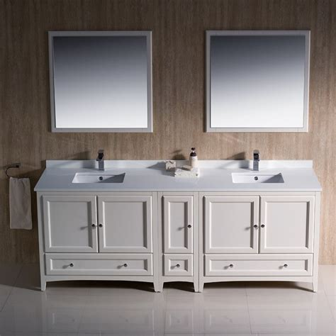 84 Sink Bathroom Vanity by Fresca Fvn20 361236aw Oxford 84 Inch Antique White
