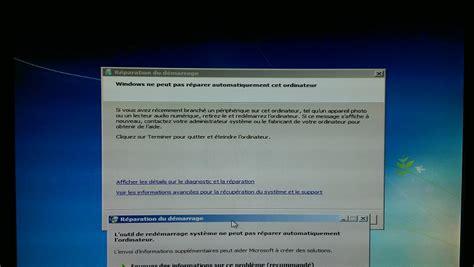 mon pc de bureau ne demarre plus win7 ne démarre plus windows ne peut pas réparer