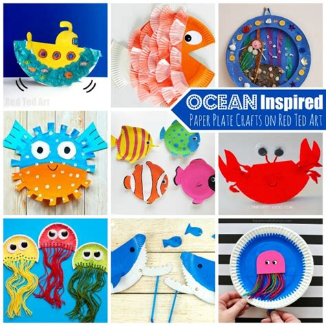 the sea paper plate crafts for ted s 551 | Ocean Paper plate crafts