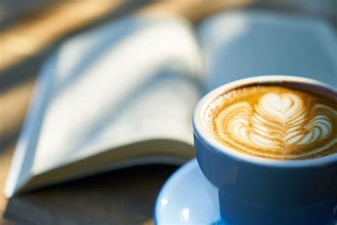 white cappuccino  swan cream design  stock photo