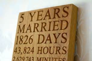 15th wedding anniversary gifts 5th anniversary wall plaques make me something special