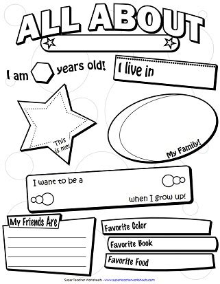 Printable Backtoschool Worksheets
