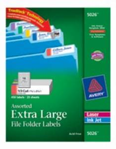 extra large file folder labels With avery 5026 template