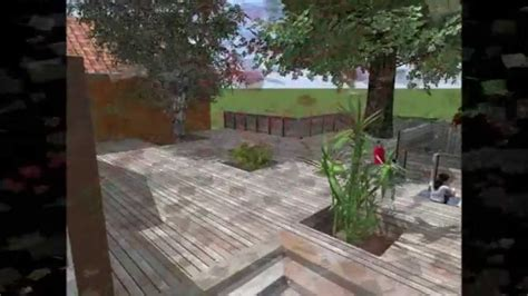 terrasse bois sur pilotis enrochement youtube