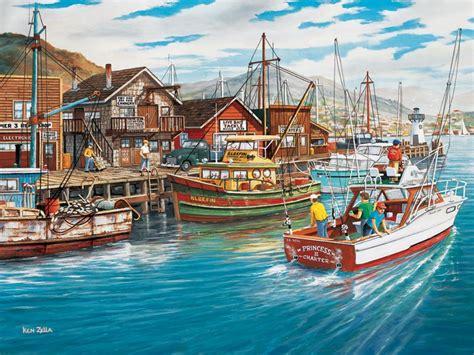 fishing harbor jigsaw puzzle puzzlewarehousecom