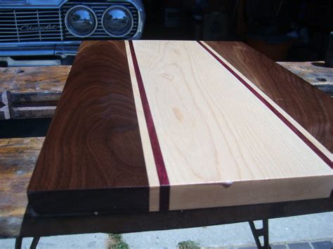 walnut purple heart  maple cutting board  ideas