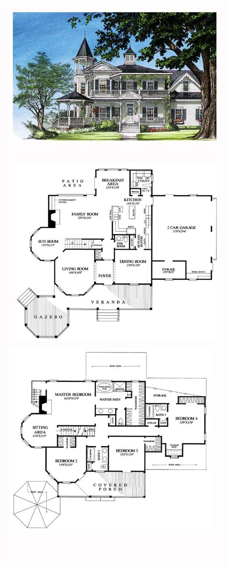 Viktorianisches Haus Grundriss by House Plan 86291 Total Living Area 3131 Sq