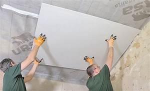 Plaque Isolation Thermique Plafond : doublage thermique poser du placo sur un plafond droit ~ Edinachiropracticcenter.com Idées de Décoration