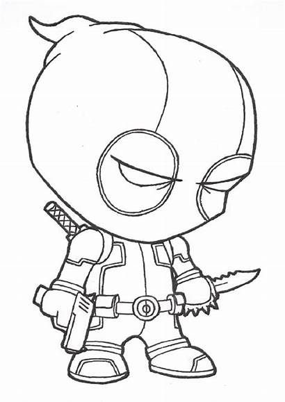 Deadpool Chibi Drawing Coloring Pages Getdrawings