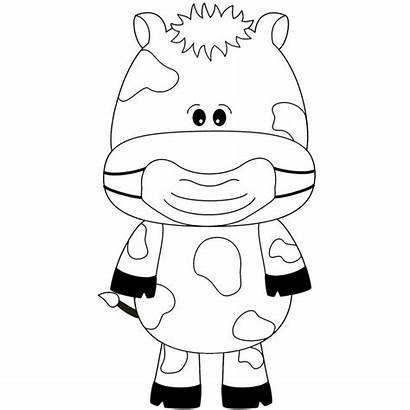 Cow Mask Face Coloring Masks Crazy Animal