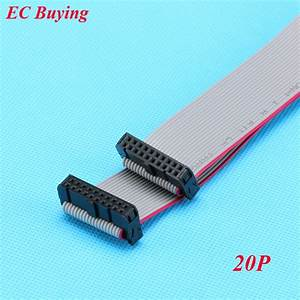 Fc 20p 2 54mm Pitch Jtag Avr Download Cable Wire Connector