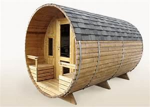Sauna Mit Holzofen : tonnensauna 4 0m aus thermoholz mit terrasse mit holzofen badetonnen und saunen aus holz ~ Whattoseeinmadrid.com Haus und Dekorationen