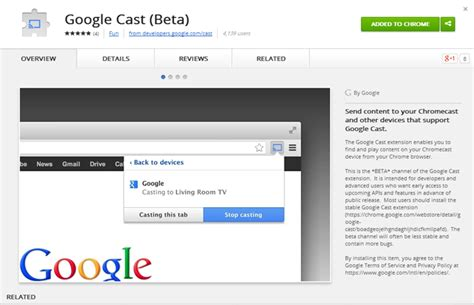 cast extension android releases a beta version of the cast