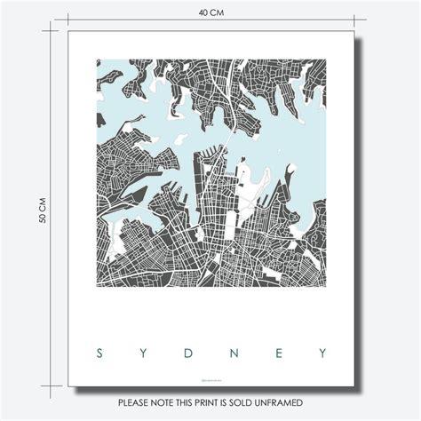 sydney map art prints limited edition prints bronagh