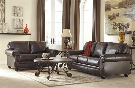 Leather Sofa Upholstery by Signature Design By Bristan Traditional Leather
