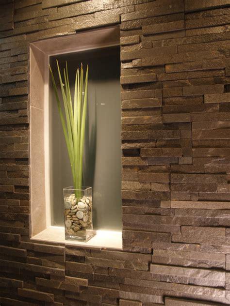 bathroom natural stone built  contemporary bathroom