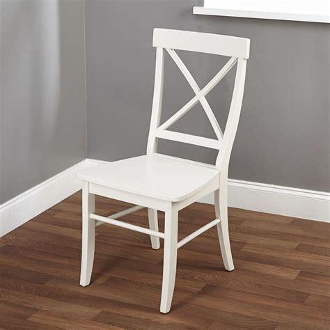 easton antique white cross back chair overstock