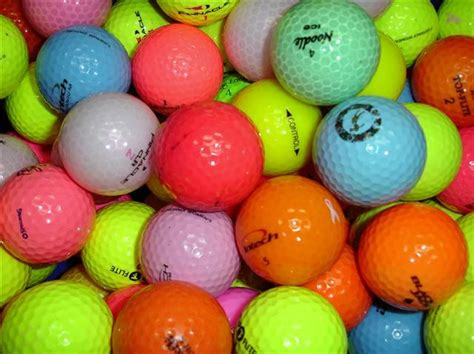 colored golf balls colored golf balls