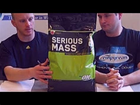 Optimum Nutrition Serious Mass Review Video - YouTube