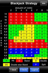 Blackjack Chart 1 Deck Blackjack Basic Strategy Card For Ios Free Download And