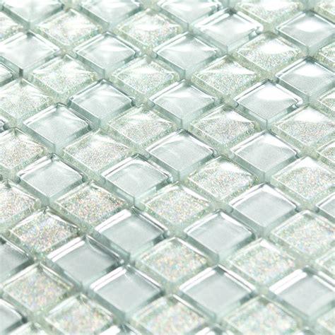 plaque ardoise cuisine mosaïque pâte de verre luxe silver argentée paillette indoor by