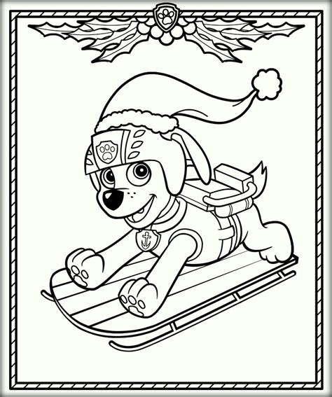 paw patrol christmas coloring pages festival collections