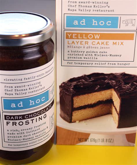 ad hoc cuisine ad hoc cake mix and prepared frosting food gal