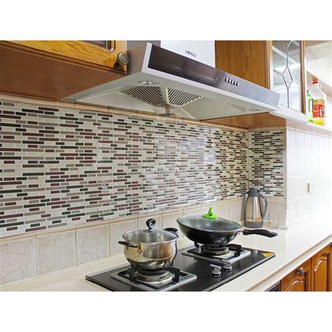 peel and stick backsplashes for kitchens fancy fix vinyl peel and stick decorative backsplash