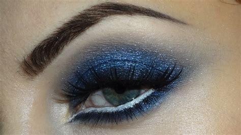 flawless eyeshadow smoky blue smokey