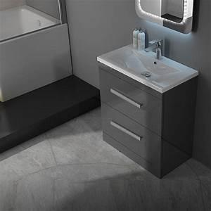 Patello 60 Grey Vanity Unit And Basin 2 Draws Buy Online