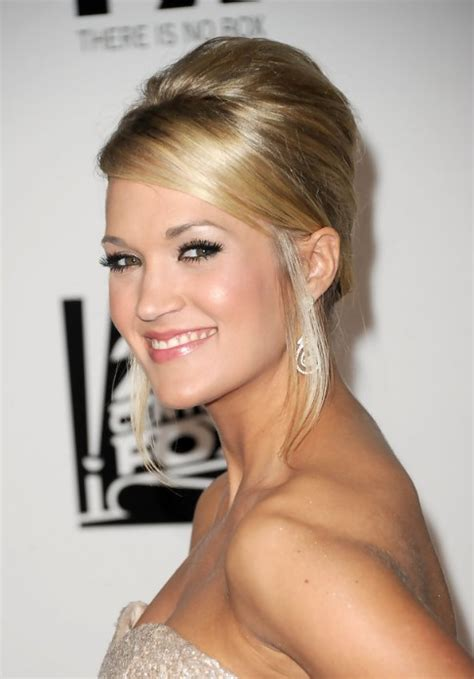 carrie underwood french twist updo hairstyle hairstyles