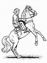 Cowboy Coloring Horse sketch template