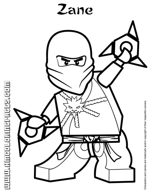 lego ninjago zane colouring page   coloring pages