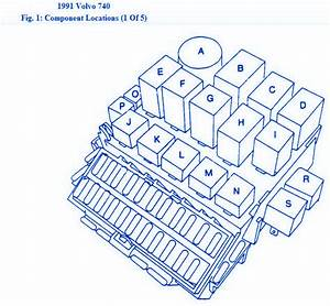 Volvo 740 1993 Main Fuse Box  Block Circuit Breaker Diagram
