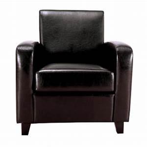 Fauteuil Simili Cuir : fauteuil club bocky simili cuir noir ~ Teatrodelosmanantiales.com Idées de Décoration