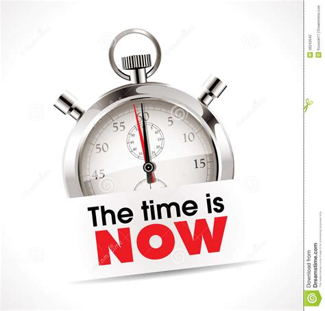 Stopwatch  The Time Is Now Stock Vector  Illustration Of