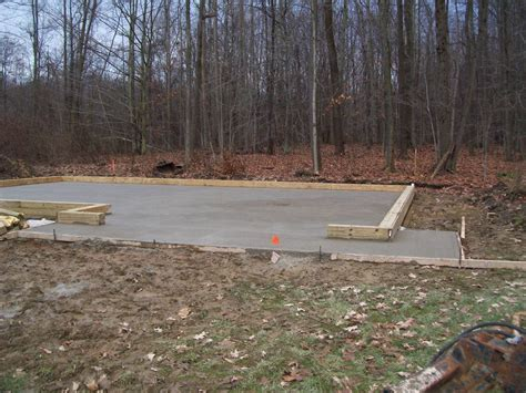 Pole Barn Concrete Floor Cost by Concrete Floor Pour For Custom Pole Barn In Conneaut Ohio