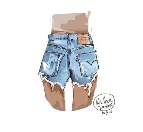 denim shorts dye destroyed ka herdegen cut  jeans