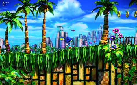sonic fan remix emerald hill zone  hd wallpaper gamephd