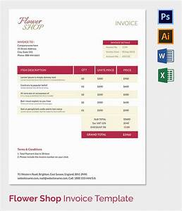 38 invoice templates free sample example format for Flower shop invoice template