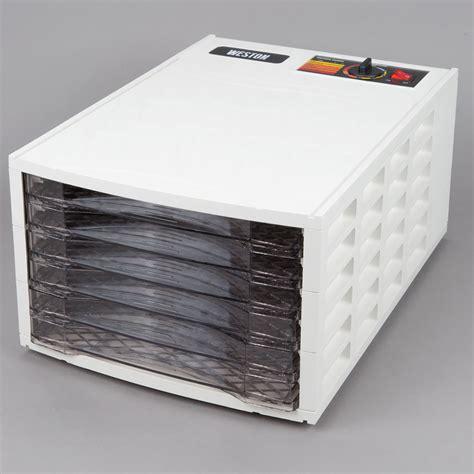 weston 75 0301 w 6 tray food dehydrator