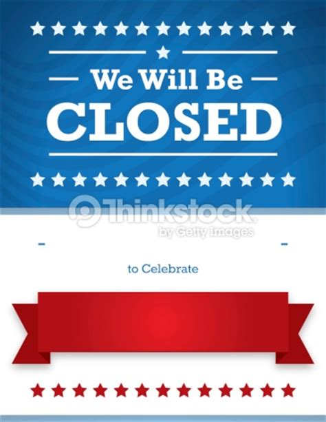 memorial day closed sign template patriotic closed sign for business stock illustration thinkstock