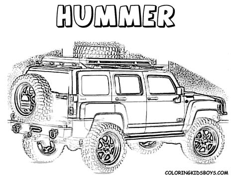 Color Page Of Hummer At Coloring