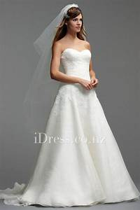 Lace and Organza A-line Strapless Sweetheart Wedding Dress ...